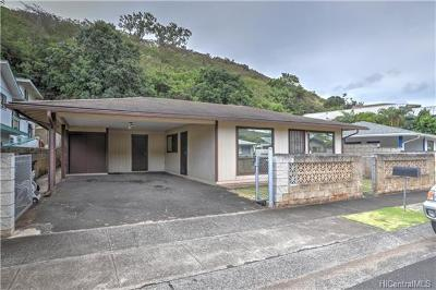 Aiea Single Family Home For Sale: 98-463 Pono Street