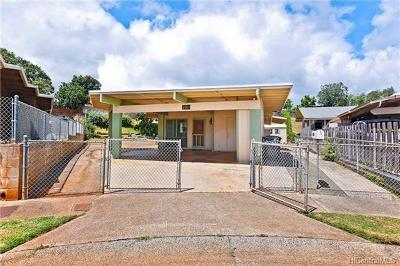 Pearl City Single Family Home In Escrow Showing: 2185 Aupaka Street