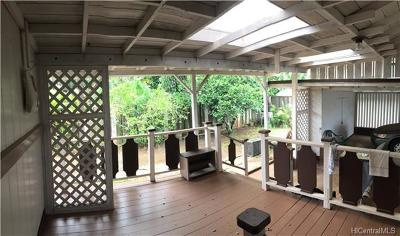 Haleiwa Single Family Home For Sale: 66-054 Haleiwa Loop