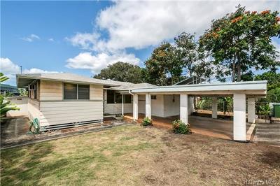 Pearl City Single Family Home In Escrow Showing: 1033 Kaweloka Street