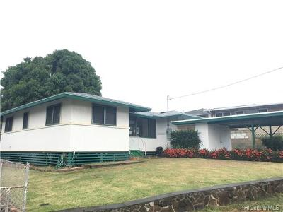 Pearl City Single Family Home In Escrow Showing: 1108 Noelani Street