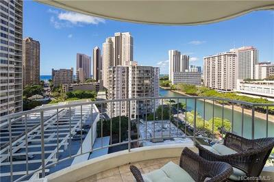 Central Oahu, Diamond Head, Ewa Plain, Hawaii Kai, Honolulu County, Kailua, Kaneohe, Leeward Coast, Makakilo, Metro Oahu, N. Kona, North Shore, Pearl City, Waipahu Condo/Townhouse For Sale: 1717 Ala Wai Boulevard #1407