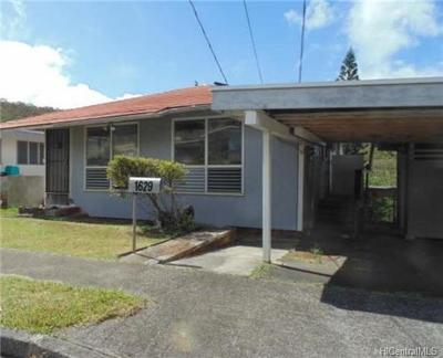 Honolulu Single Family Home For Sale: 1629 Haku Street