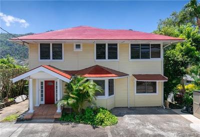 Honolulu Single Family Home For Sale: 2825 Pali Highway #A
