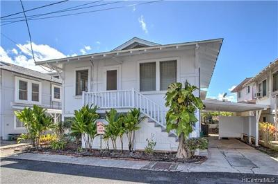 Honolulu Single Family Home In Escrow Showing