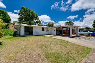 Pearl City Single Family Home In Escrow Showing: 1626 Hoolana Street