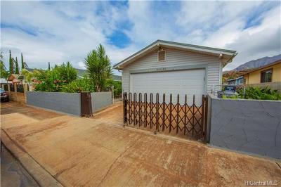 Honolulu County Single Family Home In Escrow Not Showing: 86-180 Moekolu Street