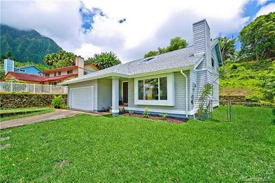 Kaneohe Single Family Home In Escrow Showing: 47-605 Puapoo Place