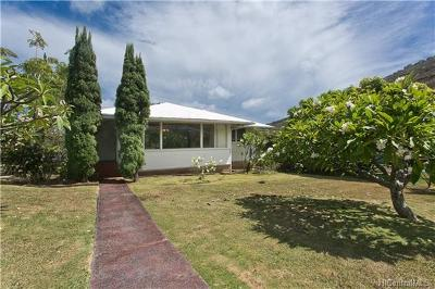 Honolulu County Single Family Home In Escrow Showing: 959 Lawelawe Street