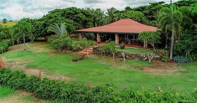 Single Family Home For Sale: 65-1140 Poamoho Street