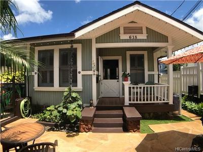 Honolulu Single Family Home For Sale: 618 11th Avenue