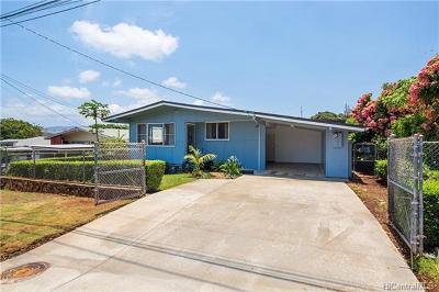 Pearl City Single Family Home For Sale: 1448 Hoohulu Street