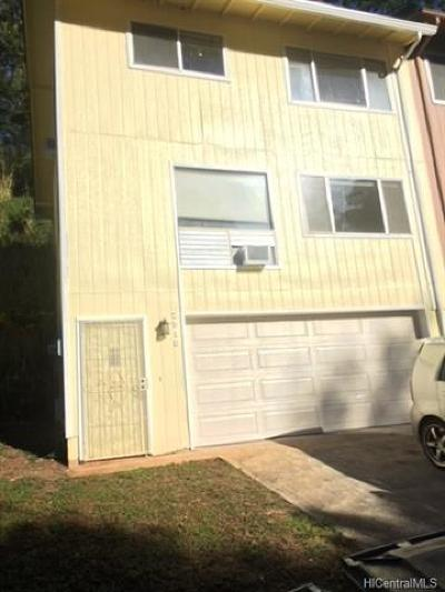 Pearl City Single Family Home In Escrow Showing: 2518 Akepa Street
