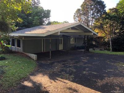Haleiwa Single Family Home For Sale: 59-711 Maulukua Road