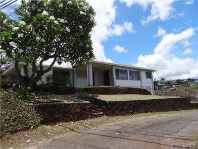 Single Family Home For Sale: 99-829 Halawa Hts Road