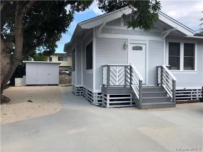 Honolulu Single Family Home For Sale: 1807 N School Street