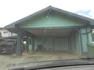 Wahiawa Single Family Home For Sale: 543 Kulia Street