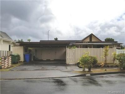 Mililani Single Family Home In Escrow Showing: 95-242 Auhaele Loop