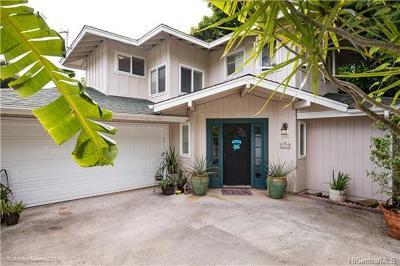 Kailua Single Family Home For Sale: 1221-B Manu Mele Street