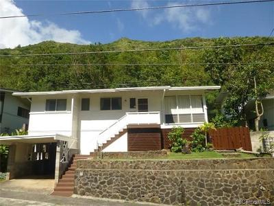 Honolulu County Single Family Home In Escrow Showing: 1151 Mona Street