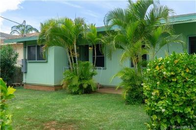 Honolulu County Single Family Home In Escrow Showing: 84-843 Moua Street