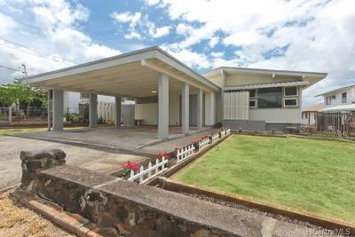 Pearl City Single Family Home In Escrow Showing: 1599 Noelani Street