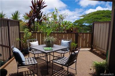 Mililani Condo/Townhouse For Sale: 94-1476 Lanikuhana Avenue #540