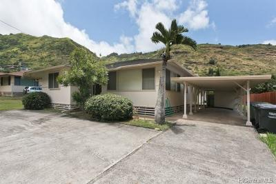 Honolulu County Single Family Home For Sale: 821 Hao Street