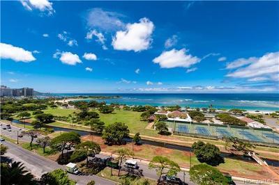 Honolulu County, Hawaii County Condo/Townhouse For Sale: 1288 Ala Moana Boulevard #12EF