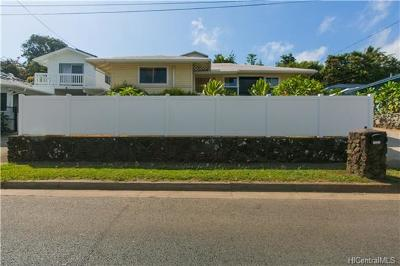 Kailua Single Family Home For Sale: 1221 Keolu Drive