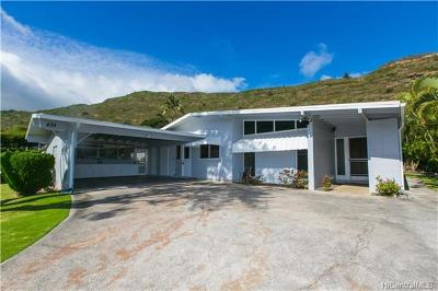 Single Family Home In Escrow Showing: 401 Puamamane Street