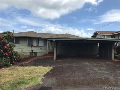 Pearl City Single Family Home For Sale: 1548 Nanakai Street