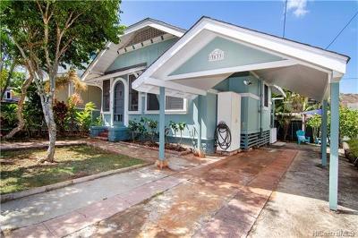 Honolulu Single Family Home In Escrow Showing: 3633 Maunalei Avenue