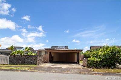 Mililani Single Family Home In Escrow Showing: 95-549 Naholoholo Street