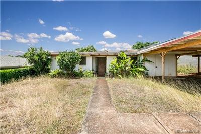 Aiea Single Family Home In Escrow Showing: 99-530 Halawa Hts Road