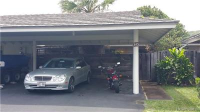 Honolulu Condo/Townhouse In Escrow Showing: 345 Opihikao Place #412