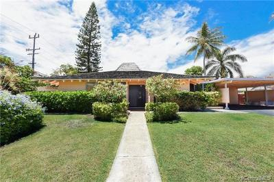 Kailua HI Single Family Home For Sale: $1,175,000