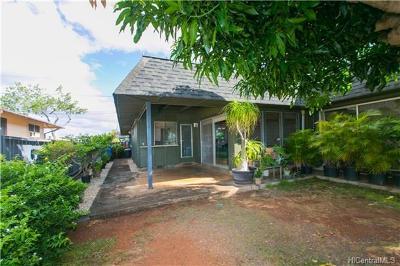 Pearl City Single Family Home For Sale: 1603 Kaumoli Street