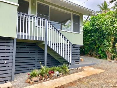 Kailua Single Family Home For Sale: 1551 Aalapapa Drive
