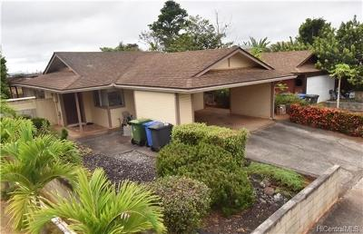 Mililani Single Family Home In Escrow Showing: 95-506 Awiki Street