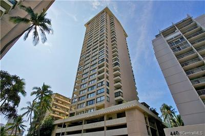 Honolulu Condo/Townhouse For Sale: 430 Lewers Street #1802