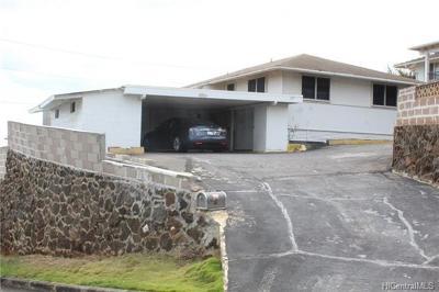 Honolulu Single Family Home For Sale: 1951 Ala Mahamoe Place