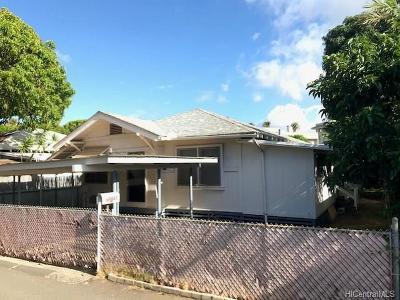 Honolulu Single Family Home For Sale: 3355c Kanaina Avenue
