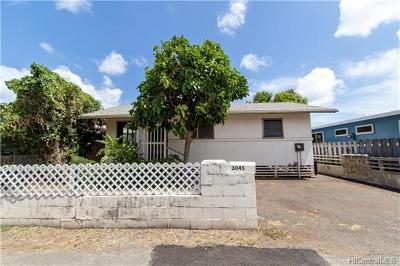 Honolulu Single Family Home For Sale: 3045 Kaina Street