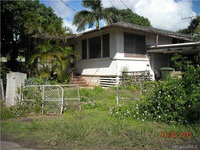 Honolulu Single Family Home For Sale: 1657 Alaneo Street #D