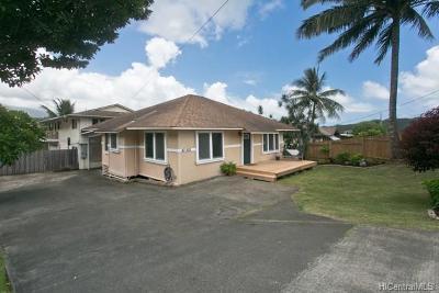 Kaneohe Single Family Home For Sale: 47-505 Ahuimanu Road #1
