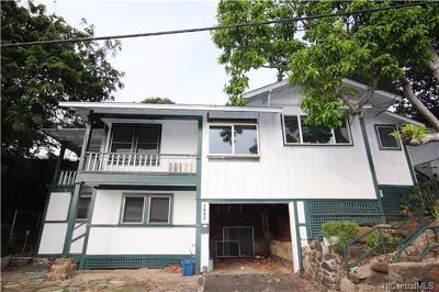 Honolulu Single Family Home For Sale: 1082 Ilima Drive