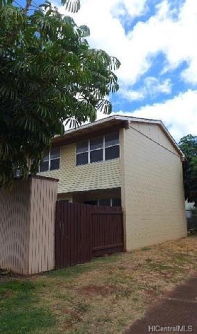 Waianae Condo/Townhouse For Sale: 85-124 Ala Walua Street #F