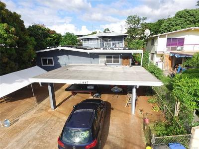 Single Family Home For Sale: 1447 Hoohui Street