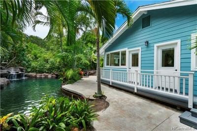 Kailua Single Family Home In Escrow Showing: 237 Lanipo Drive
